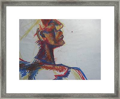 Framed Print featuring the drawing Jim by Carrie Maurer