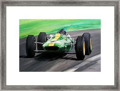 Jim Clark Lotus 25 Framed Print by Steve Jones
