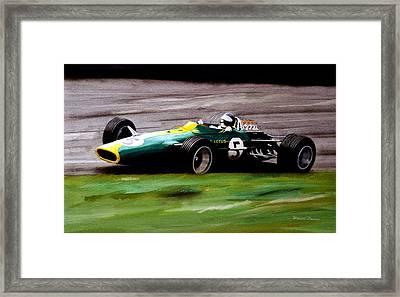 Jim Clark Lotus 49 Framed Print