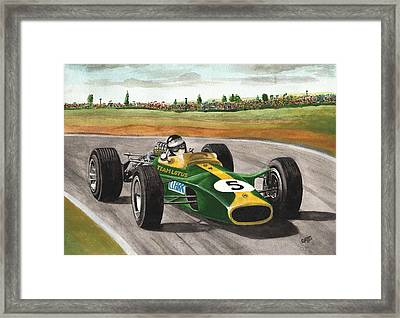Jim Clark Natural Born Racer Framed Print by Chris Cox