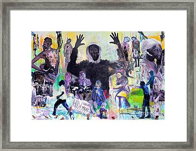 Jim Crows Child And Strange Fruit Framed Print by Charles M Williams