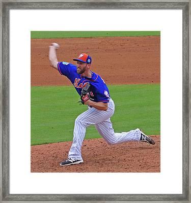Jim Henderson New York Mets Pitcher Framed Print