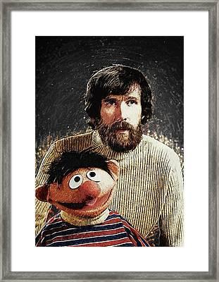 Jim Henson With Ernie Framed Print by Taylan Apukovska