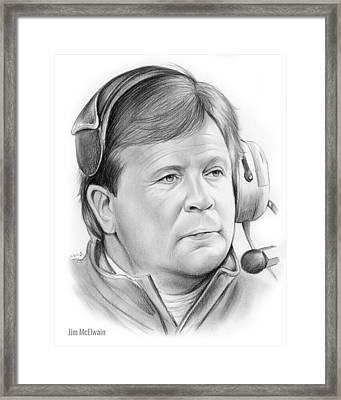 Jim Mcelwain Framed Print by Greg Joens