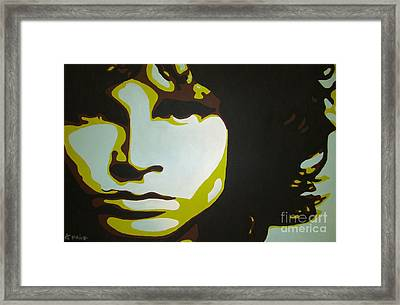 Framed Print featuring the painting Jim Morrison by Ashley Price