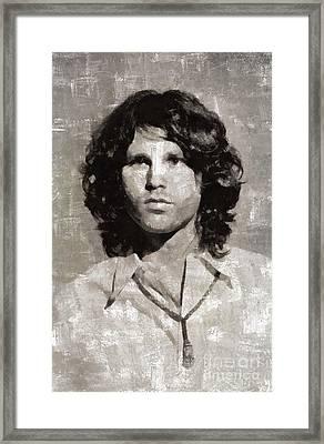 Jim Morrison By Mary Bassett Framed Print