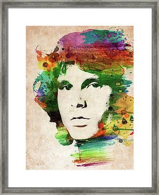 Jim Morrison Colorful Portrait Framed Print