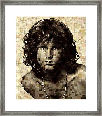 Jim Morrison Cubism Framed Print by Dan Sproul