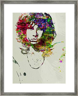 Jim Morrison Framed Print by Naxart Studio