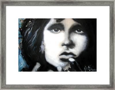 Jim Morrison Ravens Claws   Framed Print by Jon Baldwin  Art