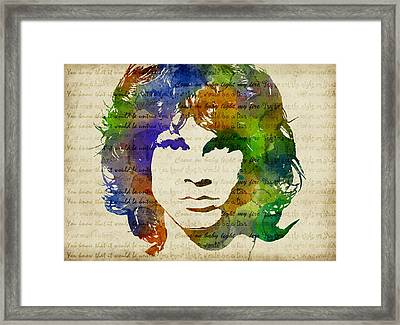 Jim Morrison Watercolor Framed Print