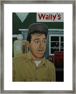 Jim Nabors As Gomer Pyle Framed Print by Tresa Crain