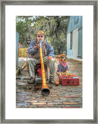 Jim Olds And Tanner Framed Print