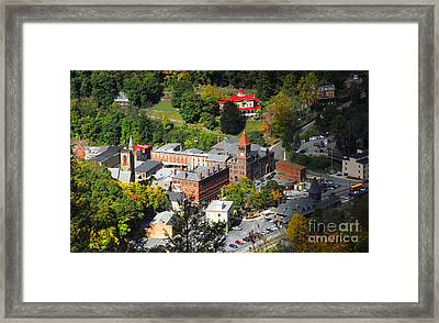 Jim Thorpe Pa Framed Print by Cindy Manero