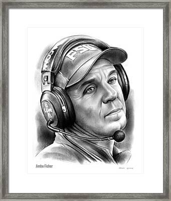 Jimbo Fisher Framed Print by Greg Joens