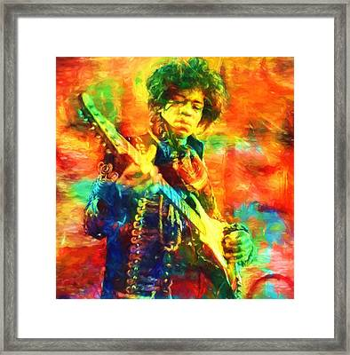 Jimi Framed Print by Dan Sproul