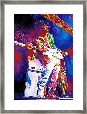 Jimi Hendrix - The Ultimate Framed Print by David Lloyd Glover