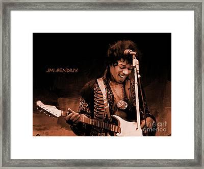 Jimi Hendrix 02 Framed Print