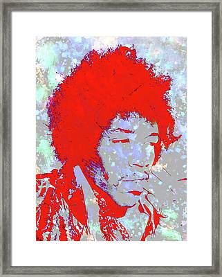 Jimi Hendrix 4c Framed Print