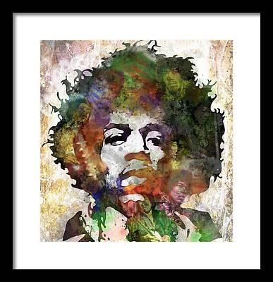 Jimi Hendrix Music Art Rock And Roll Framed Prints