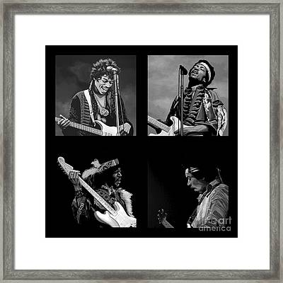 Jimi Hendrix Collection Framed Print by Meijering Manupix