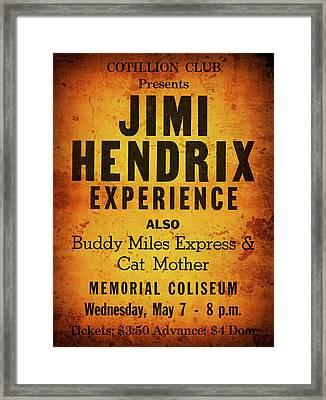 Jimi Hendrix Concert Poster May 7, 1969 Framed Print