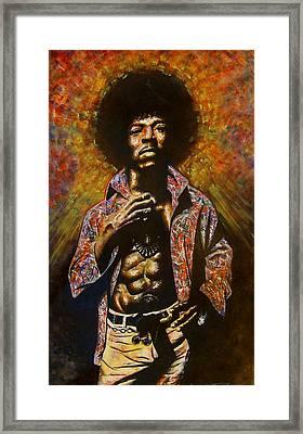 Jimi Hendrix Framed Print by Darryl Matthews