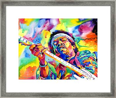 Jimi Hendrix Electric Framed Print