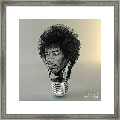 Jimi Hendrix Electric Framed Print by Marvin Blaine
