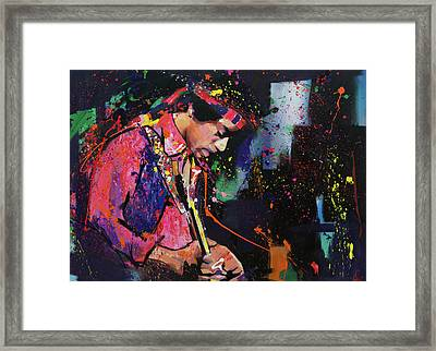Jimi Hendrix II Framed Print by Richard Day