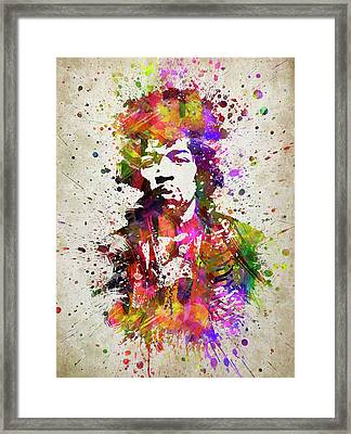 Jimi Hendrix In Color Framed Print