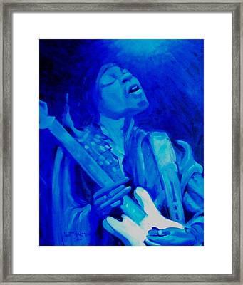 Jimi Hendrix Framed Print by Jeanette Jarmon