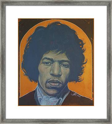 Jimi Hendrix Framed Print by Jovana Kolic