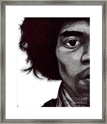 Jimi Hendrix Framed Print by Mark Richardson