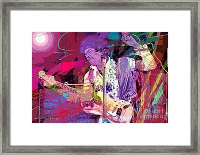 Jimi Hendrix Monterey Pops Framed Print by David Lloyd Glover