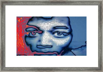 Jimi Hendrix Oh Say, Can You See The Rockets Red Glare Framed Print