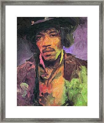 Jimi Hendrix Painting Framed Print