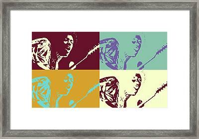 Jimi Hendrix - Pop Art # 2 Framed Print