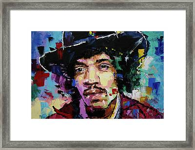 Jimi Hendrix Portrait II Framed Print by Richard Day
