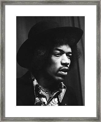 Jimi Hendrix Profile 1967 Framed Print