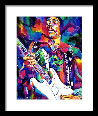 Rock Jimi Hendrix Music Framed Prints