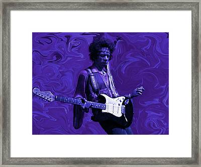 Jimi Hendrix Purple Haze Framed Print by David Dehner