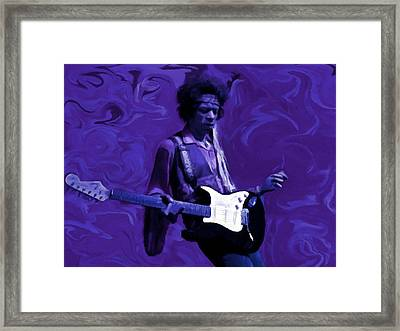 Framed Print featuring the painting Jimi Hendrix Purple Haze P D P by David Dehner