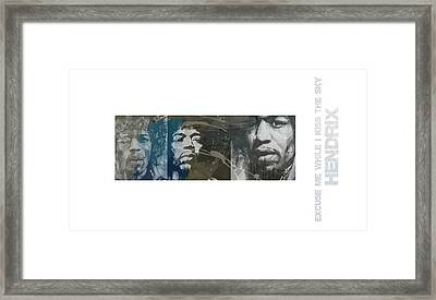 Jimi Hendrix Triptych Framed Print