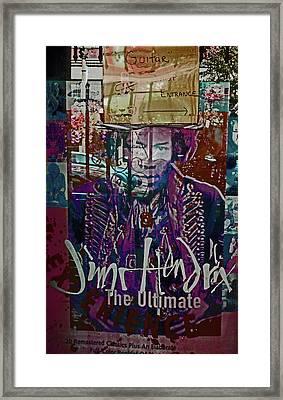 Jimi Hendrix - Ultimate Legend Framed Print by Walter Fahmy