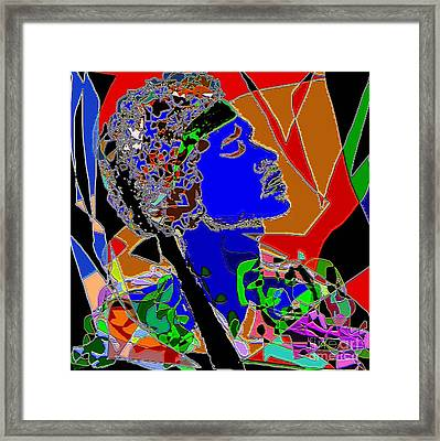 Jimi In Heaven Colorful Framed Print by Navo Art