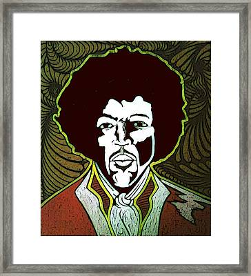 Jimi Framed Print by Jeff DOttavio
