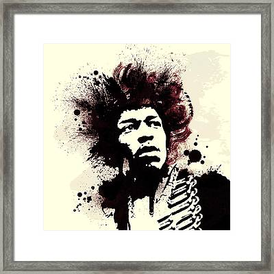 Jimi Framed Print by Laurence Adamson