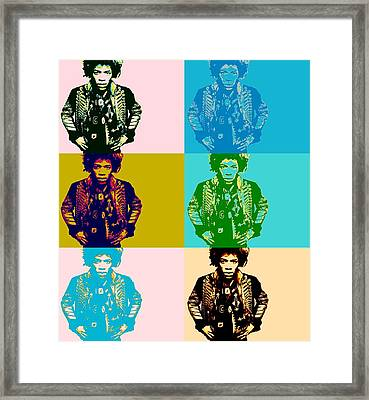 Jimi Pop Art Framed Print