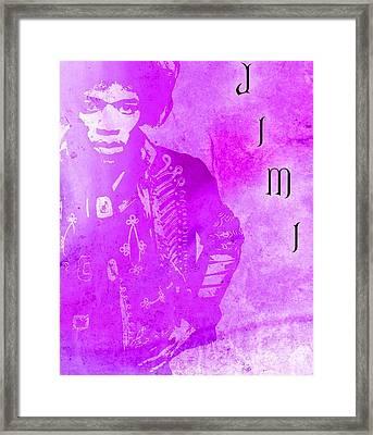 Jimi Purple Haze Framed Print